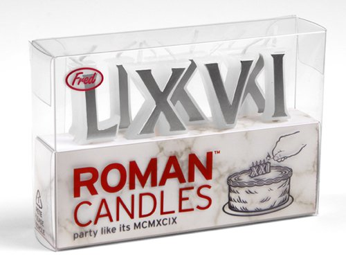 Fred Roman Candles Birthday Candles