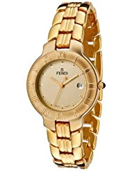 Women's Small Gold Dial 18k Gold Plated Stainless Steel