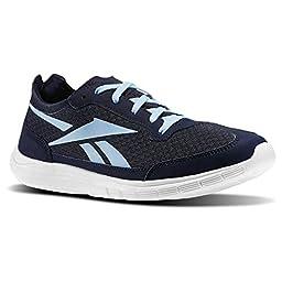 Reebok Sport Ahead Action RS Womens Walking Shoe 10.5 Indigo-Denim Glow-White