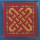 Red Celtic Knot Fridge Magnet Cross Stitch Kit