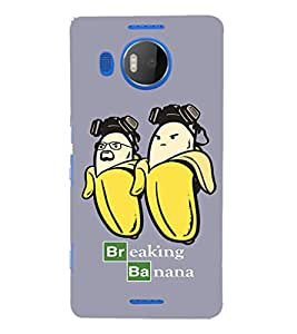 EPICCASE Breaking banana Mobile Back Case Cover For Microsoft Lumia 950 XL (Designer Case)