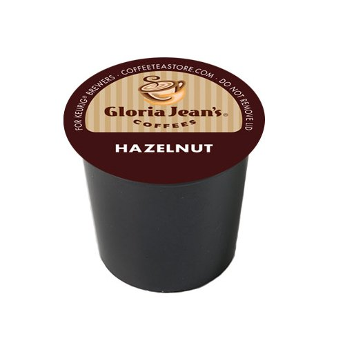 Gloria Jean's Coffee, Hazelnut, K-Cup Portion Pack for Keurig K-Cup Brewers (Pack of 24)
