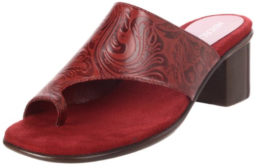 Aerosoles Women's Born Free Sandal,Red Printed Leather,7.5 M US