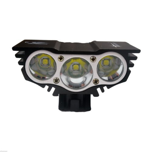 3× Cree Xm-L Xml U2 Led X3 3000Lm Bicycle Light Bicycle Lamp Bike Light Headlight 4 Mode W/(6 X 16850 Batteries)