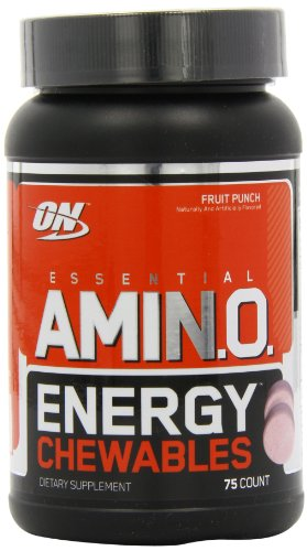 Optimum Nutrition  Essential Amino Energy Chewables Diet Supplement, Fruit Punch, 75 Count