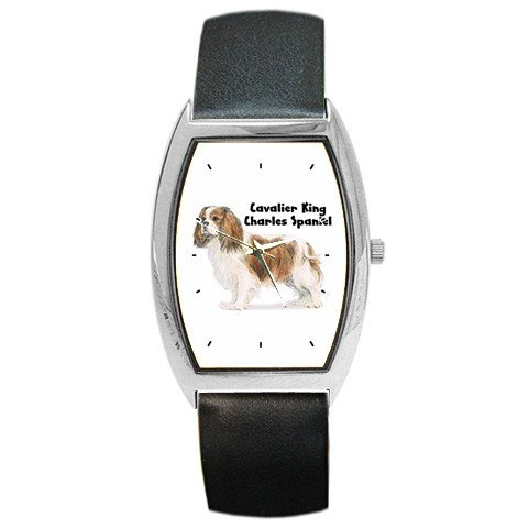 Victorinox Swiss Army Cavalier King Charles Spaniel Barrel Style Metal Watch