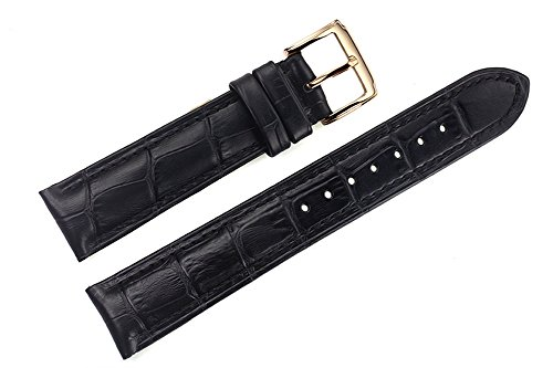 21mm-black-luxury-italian-leather-replacement-watch-straps-bands-grosgrain-for-top-grade-brands