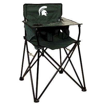 Astounding Ciao Baby Michigan State Portable Highchair Green Bralicious Painted Fabric Chair Ideas Braliciousco