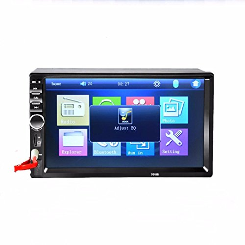 Lacaca-KFZ-Entertainment-System-mit-178-cm7-Zoll-LCD-Monitor-mit-Touchscreen-Stereo-MP5-MP3-Player-UKW-Radio-USB-SD-AUX-Eingang-TV-Ausgang-AudioVideo-Wiedergabe