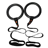 Agptek Portable CrossFit Gymnastics Ring, Olympic Rings with High-Strength Straps for Full Body Strength and CrossFit Training and Multi-Use Exercise Like Pull Up Dips, Iron Cross, Rows