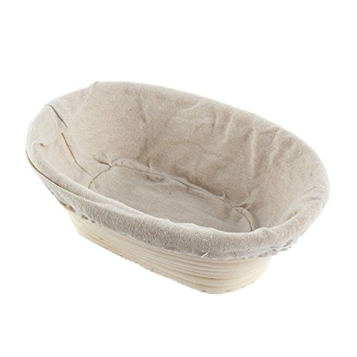 EXIU Oval Dough Banneton Brotform Dough Rattan Bread Proofing Proving Baskets (Dough Proofing Containers compare prices)