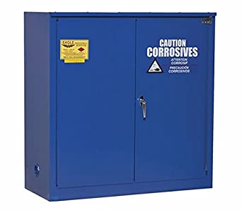 "Eagle CRA-70 Acid/Corrosive Safety Cabinet, Self-Closing, 2 Door, 1 Shelf, Under-Counter, 35"" Width x 35"" Height x 22"" Depth, 22 Gallon Capacity"