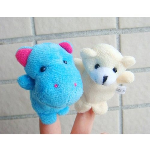 5 X Kid Baby Children Finger Animal Puppet Play Learn Story Toy Doll Random Pettern front-1036059