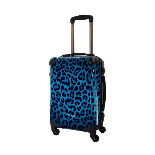 キャラート アートスーツケース ポップニズム 豹柄 (ブルー) フレーム4輪 機内持込