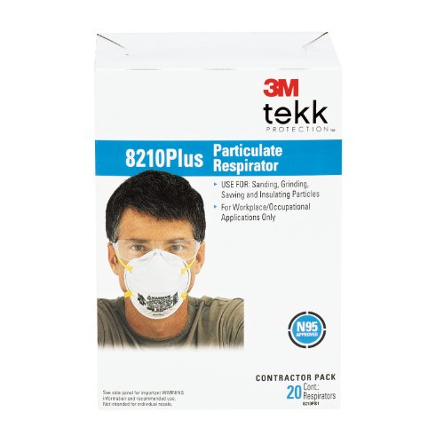 3M Dust Respirators 8210, N95, 20-Pack