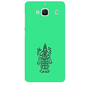 Skin4gadgets Lord Vishnu- Line Sketch on English Pastel Color-Turquiose Green Phone Skin for REDMI 2