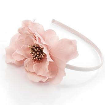 Elegant Flower with Gold Beaded Centre on Headband Fascinator