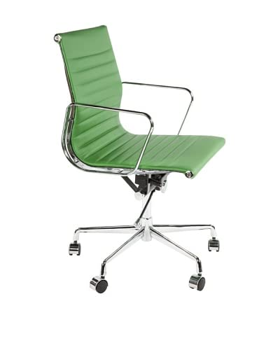 Stilnovo Mid-Century Executive Office Chair, Green/Chrome