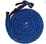 FLEXIBLE EXPANDABLE HOSE PIPE LIGHT WEIGHT NON KINK WATER SPRAY NOZZLE. (Blue, 100 ft)  from Noza Tec