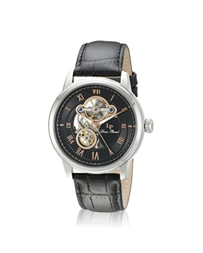 Lucien Piccard Men's LP-12524-01-RA Black Genuine Leather Watch