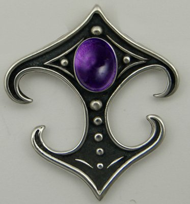 A Beautiful Gemstone in a Gothic Setting Featuring Amethyst, Made in America