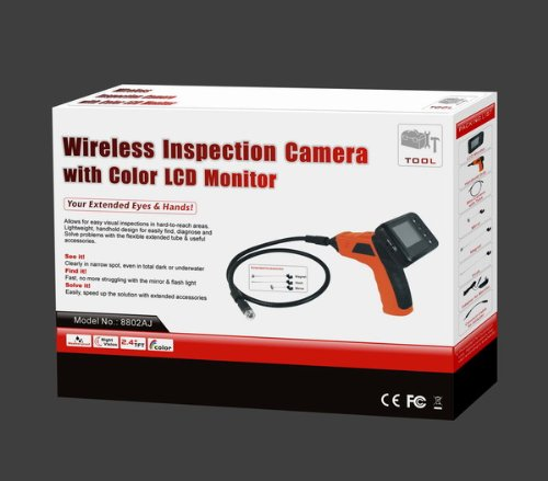 BRAND NEW WIRELESS INSPECTION CAMERA SEE SNAKE ENDOSCOPE WITH 2.5 INCH LCD COLOUR MONITOR RRP £179.99