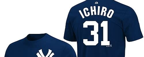 イチロー(ニューヨーク・ヤンキース) MLB Tシャツ
