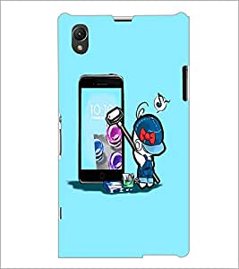 PrintDhaba Cartoon D-2006 Back Case Cover for SONY XPERIA Z1 (Multi-Coloured)