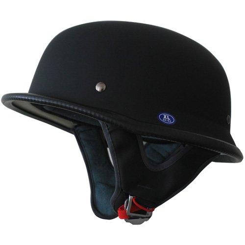 German Motorcycle Half Helmet DOT Low Profile Matt Black 115(XL)