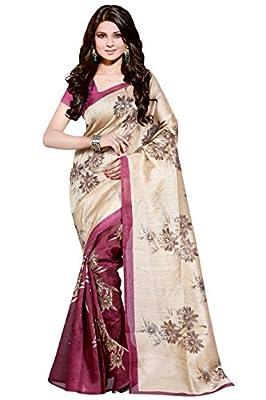 Trendz Cotton Silk Black Saree(TZ_Sunflower_Rani)