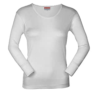 Terramar Women's Thermasilk Scoop Neck Top,US Women's S (Wms Size 6-8, Bust 34-36, Sleeve 29-,Natural