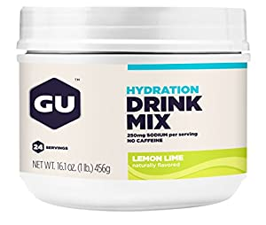GU Hydration Drink Mix, Lemon Lime, 16.1 Ounce Canister