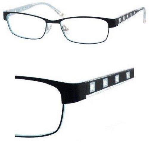 Liz Claiborne 362 Eyeglasses (01S6) Black Blue,