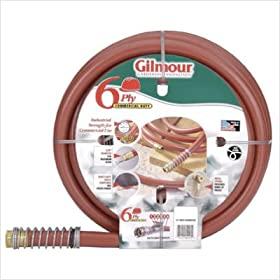Gilmour 25 Series 6 Ply Commercial Rubber/Vinyl Hose 3/4 Inch x 75 Feet 25-34075 Red
