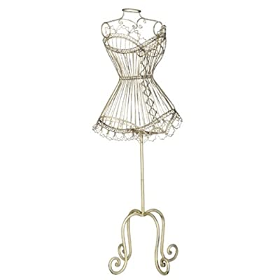 Shabby Chic Style Wire Mannequin Dressmakers Dummy