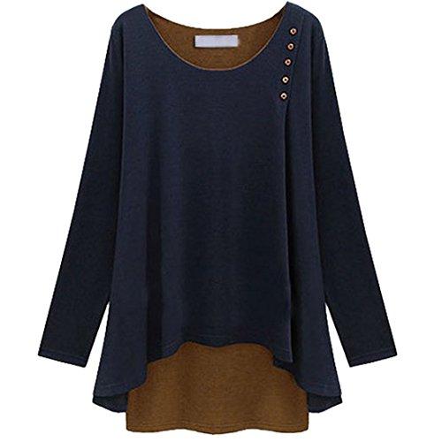 splicing-popline-maglia-a-maniche-lunghe-da-donna-loose-tunica-tops-blu-scuro-xxxx-large