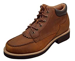 Twisted X Boots Men\'s MCU0007,Oiled Saddle Leather,US 7.5 M