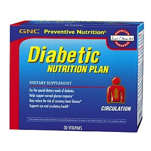 GNC Diabetic Nutrition Plan, Circulation, 30 Vitapaks