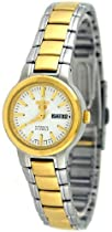 Two Tone Seiko 5 Automatic Dress White Dial