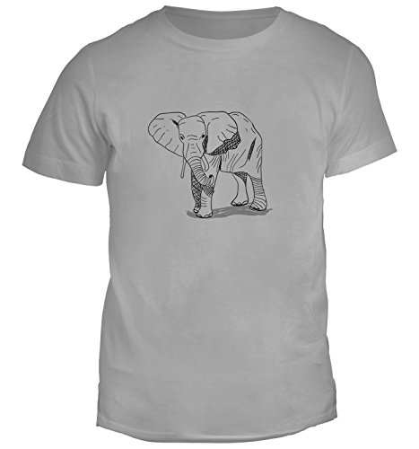 mens-t-shirt-with-hand-drawn-elephant-illustration-print-crew-neck-small-grey
