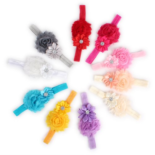 2013Newestseller 10Pcs Colorful Beautiful Baby Girls Headbands, Hair Accessories front-1047219