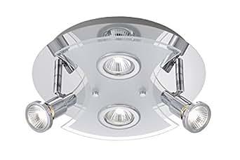 Briloner Leuchten splash Hochvolt-Bad-Deckenleuchte, 4 flammig,GU10, chrom 2159-048