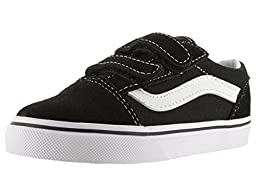 Vans Boys\' Old Skool V - Black - 7 Toddler