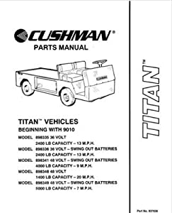 ezgo 837638 1990 1994 parts manual for cushman titan utility vehicle outdoor. Black Bedroom Furniture Sets. Home Design Ideas