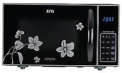 IFB 25PG3B 25-Litre Grill Microwave Oven (Black/Floral Design)