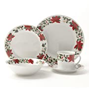 Gibson Poinsettia Holiday Dinnerware Set 20-Piece  sc 1 st  DiscoveryHub.net & China Dinnerware Sets