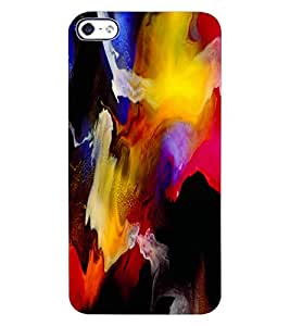 ColourCraft Abstract Art Design Back Case Cover for APPLE IPHONE 4S