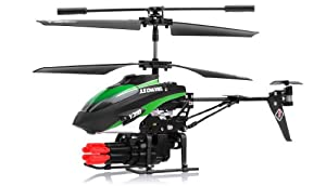 V398 3.5 Channel Missile Shooting RC Helicopter RTF with Six Missiles rapid fire (Colors May vary) from WL-Toys