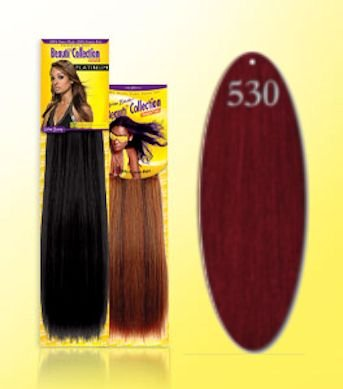 Beauti-Collection-Human-Hair-Weave-Yaki-Weave-12-530-Red-Size-12