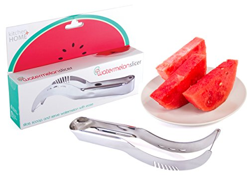 Watermelon Slicer Corer and Server - Highest Quality 18/10 Stainless Steel Melon Slicer by Kitchen Plus Home Review